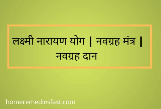 Lakshmi Narayan Yog | Navgrah Beej Mantra | Navgrah Daan